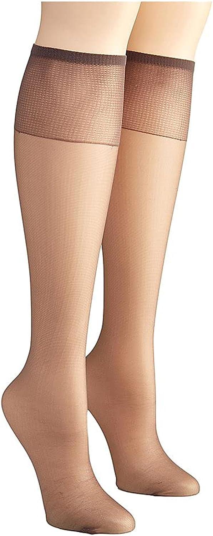 Hanes womens Hanes Silk Reflections Women's 2-pack Knee High Sandalfoot