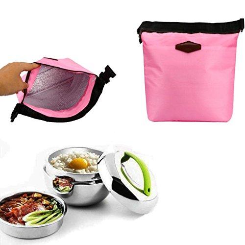 Xshuai Sac isotherme pour déjeuner - Glacière portable et étanche - Sac isotherme - Sacs pour pique-nique - 28 cm x 24 cm x 9 cm, Tissu, rose, Size:28cm×24cm×9cm