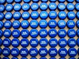100 ((Bud Light)) Bottle Caps. NO DENTS. Great for Crafts, Table Tops, and Decor