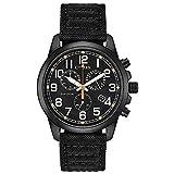 Citizen Men's Chandler Stainless Steel Quartz Nylon Strap, Black, 20 Casual Watch (Model: AT0205-01E)