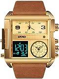JSL Los hombres s cuadrado gran esfera reloj correa dominante cuarzo reloj de los hombres de negocios s reloj electrónico-5