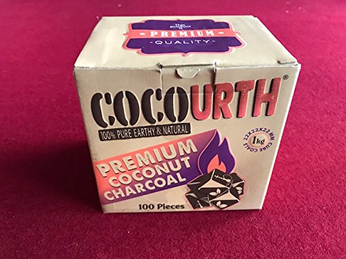 Hookah Natural Coconut Charcoal 100 Pieces Mini Cube Coco Urth 1 Kilo Shisha Coal