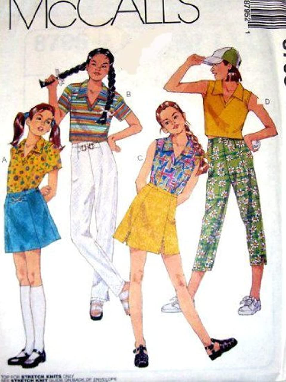McCall's Sewing Pattern 8795 Girls Top In Two lengths, Pants In two Lenghts And Skirt, Size CJ (10 12 14)