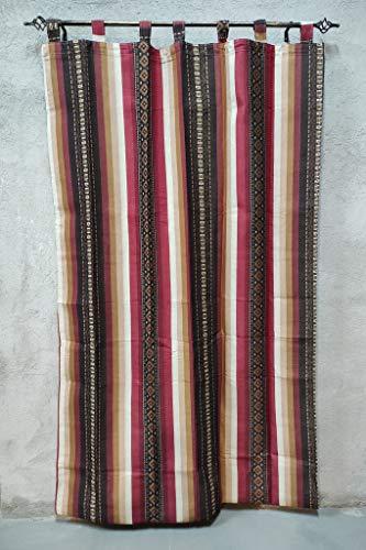 Cortinas de Calle Rayas de Color Rojo alpujarras de travillas, para Interior y Exterior del Hogar.