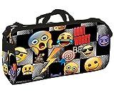 Montichelvo 56108 Bolsa Deporte Bolso de Viaje Emoji, 55 cm, Negro