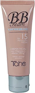 Tahe BB Cream Unique, Colour Control Efecto Lifting F.P.S 15. Hidrata, Protege y Disimula Imperfecciones, Nº 82, 50 ml