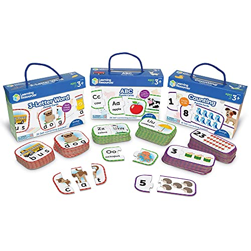 Learning Resources Puzzle Cards PreK Bundle, Multi