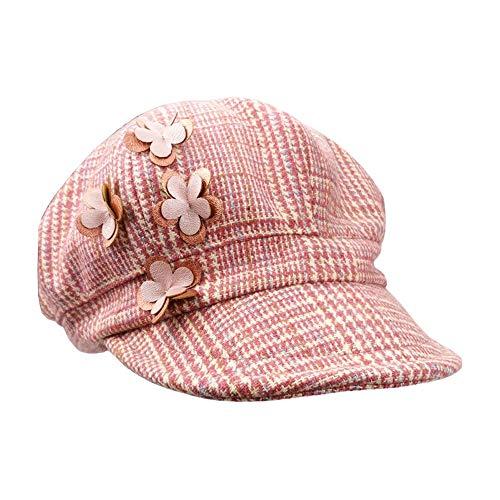 Jian E meisjes hoed lente herfst fijne wol baby vader Hijo stereo bloem mode baby kind groot Bailey eend tonghoed - 42/44/46/48/50/52/54 cm - Geschikt voor kinderen van 0-8 jaar