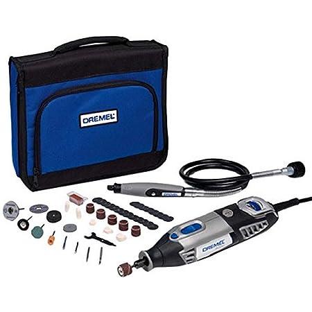 Dremel 4000 Outil Rotatif Multifonction 175W avec 1 Adaptation 45 Accessoires (Version Italienne) Vitesse 5000-35000 tr/min