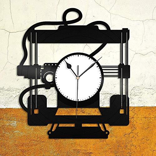 Impresora 3D Reloj de Pared de Vinilo Amigos decoración de la Sala de Estar de la Familia diseño Retro Oficina Bar Dormitorio decoración del hogar