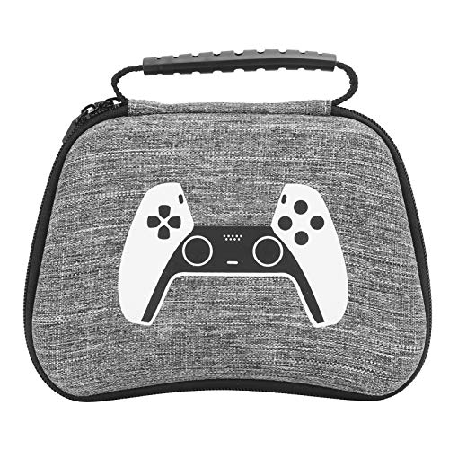 Gamepad Controller Bag,Hard Handle Portable Gamepad Controller Protection Bag Anti‑Dust Shockproof for PS5,Easy to Open and Close