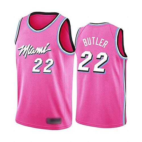 Ordioy Camisetas De Baloncesto Legend para Hombre, Miami Heat 22# Jimmy Butler NBA Swingman Jersey, Uniforme De Entrenamiento Chaleco Deportivo Tops 90S Hip Hop Ropa para Fiesta,Rosado,L