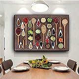 Frutas Verduras Cocina Cocina Lienzo Pintura Carteles e impresión Arte de la pared Comida Imagen Sala de estar Sin marco A 40X60CM