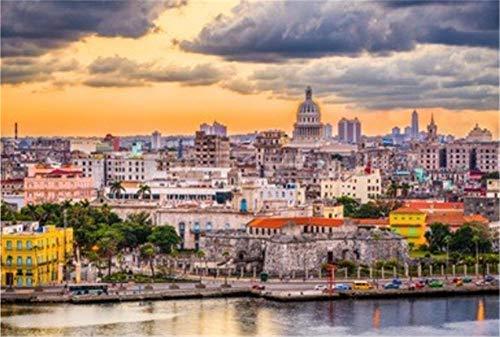 Rompecabezas De 1000 Piezas Horizonte del Centro De La Habana Cuba para Adultos Adultos Adulto Hobby Decoración del Hogar DIY