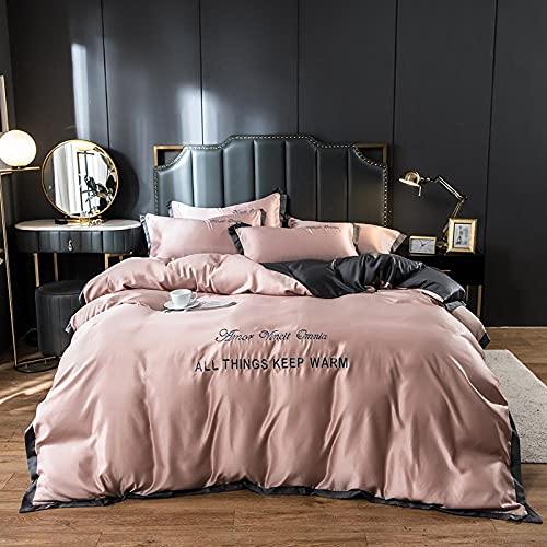 duvet cover sets king size,Hand washed silk double-sided ice silk four-piece bedding-O_2.0M bed (4 pieces) (220 * 240)