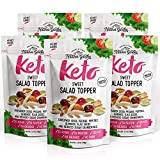 Nature's Garden Keto Salad Topper Mix Dry Fruits Multi-Vitamins - Natural Foods Almonds, Sunflower Seeds & Flax Seeds, Pepitas, Pecans | Deduced Sugar Cranberries -Sweet -Pack of 5, 18.40 OZ
