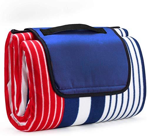 Picknickdecke wasserdichte Picknick-Deckenmatte 200 x 200 cm, Picknick Decke Picknick-Matte tragbare Dicke Outdoor-Decke für Picknicks Camping Outdoor-Wandern
