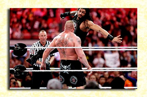 Tamatina Wrestlemania 33 Official Wall Poster - Roman Reigns vs. Brock Lesnar - HD Quality Wrestling Poster