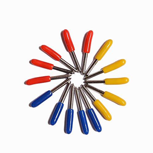 Hansin プロッタを切断するためのブレード、15個ロールオンGCC用30°45°60°Cricut Cutting Plotterビニールカッターブレードナイフ