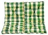 Ambientehome 2er Set Sitzkissen und Rückenkissen Sessel Hanko, kariert grün, ca 50 x 98 x 8 cm,...