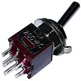 AERZETIX: Interruptor conmutador de palanca DP3T ON-OFF-ON 1A/250V, 3 posiciones C10552...