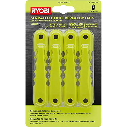 RYOBI Serrated Blade Replacement (8-Pack) AC052N1FB - Accessories for Auto Feed String Trimmers