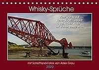 Whisky-Sprueche (Tischkalender 2022 DIN A5 quer): Mit tollen Schottland-Aufnahmen und flotten Texten zum fluessigen Gold durchs Jahr (Monatskalender, 14 Seiten )