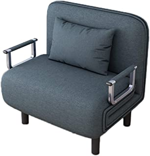 Quelife Folding Sleeper Chair, Sofa Bed Single Sleeper Convertible Chair Lounger Couch Bed-Teal Blue