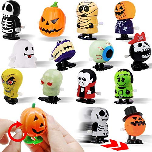 15 PCs Wind Up Halloween Toys Assortment Party Favors for Halloween Trick or Treat Goody Bags Prizes