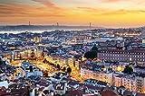 DesFoli Lissabon Portugal Stadt Skyline Poster Kunstdruck