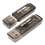 Micro Center SuperSpeed 2 Pack 32GB USB 3.0 Flash Drive Gum Size Memory Stick Thumb Drive Data Storage Jump Drive (32G 2-Pack)