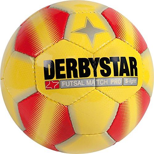 Derbystar Fußball Ball Fußball Futsal Match PRO, Gelb/Rot, 3, 1089