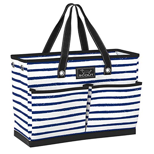 SCOUT BJ Bag, Large Tote Bag with 4 Exterior Pockets & Interior Zippered Compartment, Lightweight Utility Tote Bag for Teachers and Nurses in Ship Shape Pattern (Multiple Patterns Available)