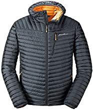 Eddie Bauer Men's MicroTherm 2.0 Down Hooded Jacket, Storm Regular XXL