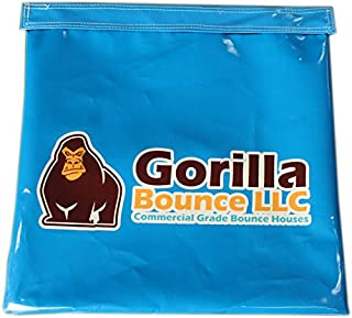 Vinyl Sand Bag, Support/Anchor for Inflatables, Bounce Houses and Tents (Light Blue, 6 Pack)