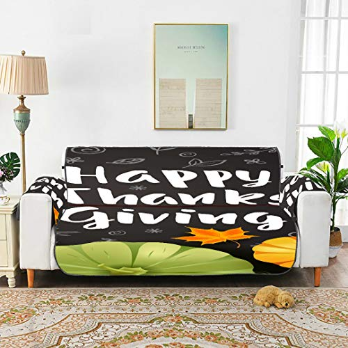 """Yuejh Thanksgiving Day Best Harvest Dust Proof Sofa Cover Couch Dust Cover Cover Couch Sectional for 45"""" Sofa Protect from Kids Dogs and Pets"""
