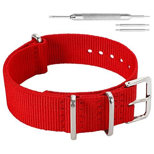 16mm Rojo Extravagante Estilo de la Robusto exótica Nylon Suave Tipo Reloj Pulsera de Las Mujeres del Deporte