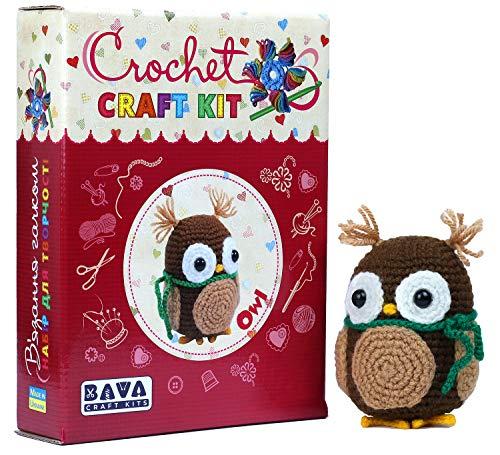 Crochet Craft Kit OWL Amigurumi DIY kit for Teens and Adults, All Materials...
