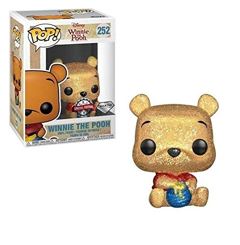 USA OFFICIAL Winnie The Pooh Funko Pop 252 Diamond Glitter Special Edition Figure 9 cm