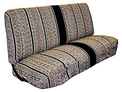 West Coast Auto Universal Baja Saddle Blanket Bench Full Size Seat Cover Fits Ford, Chevrolet, Dodge, and Full Size Pickup Trucks