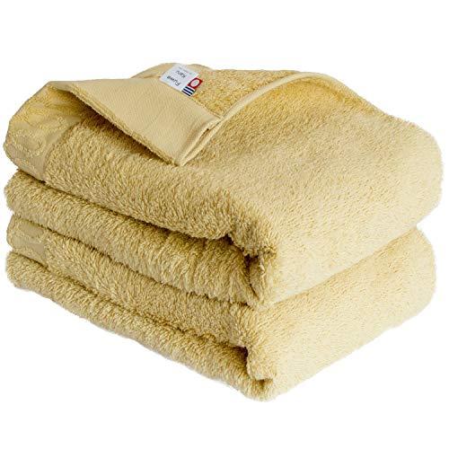 トランパラン 今治タオル FuwaKaru バスタオル 2枚セット (イエロー) 日本製 綿100% ふんわり 軽量 吸水