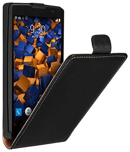 mumbi Tasche Flip Case kompatibel mit LG Spirit 4G Hülle Handytasche Case Wallet, schwarz