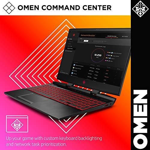 HP Omen 2019 15-Inch Gaming Laptop with Intel i7-9750H Processor, NVIDIA GTX 1660Ti 6 GB, 8 GB RAM, 256 GB SSD, VR Ready, Windows 10 Home (15-dc1020nr, Black)