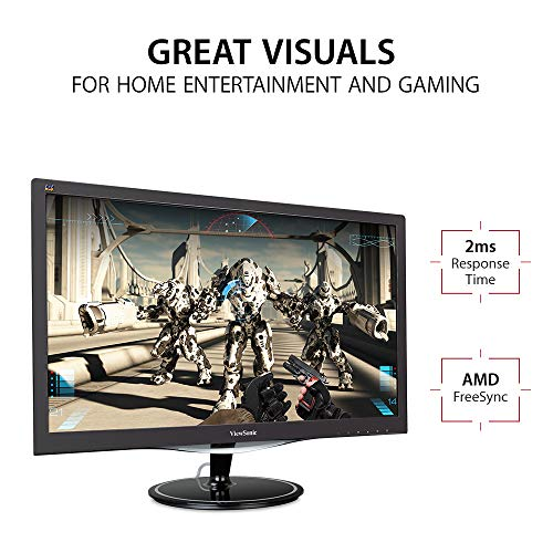 ViewSonic VX2457-MHD 24 Inch 75Hz 2ms 1080p Gaming Monitor with FreeSync Eye Care HDMI and DP