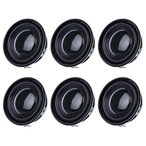 WiMas 6 Stück Full Range Audio Lautsprecher, Stereo Woofer Lautsprecher, SubWoofer für DIY Desktop Lautsprecher (4 Ohm 3W Schwarz)