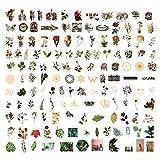 Juego de 140 pegatinas Washi, 420 unidades de pegatinas decorativas de tamaño grande, diseño floral vintage para adultos, niños, álbumes de recortes, planificadores, diarios, envoltura de regalos