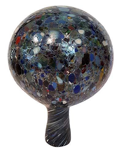 Oberstdorfer Glashütte Gartenkugel farbige Rosenkugel bunt gelüstert wetterfeste Kristallglas Blumen Kugel mundgeblasen Durchmesser ca.11 cm