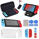 16 en 1 Kit de Accesorios para Nintendo Switch, Funda para Nintendo Switch con 10 Cartucho de Juego...