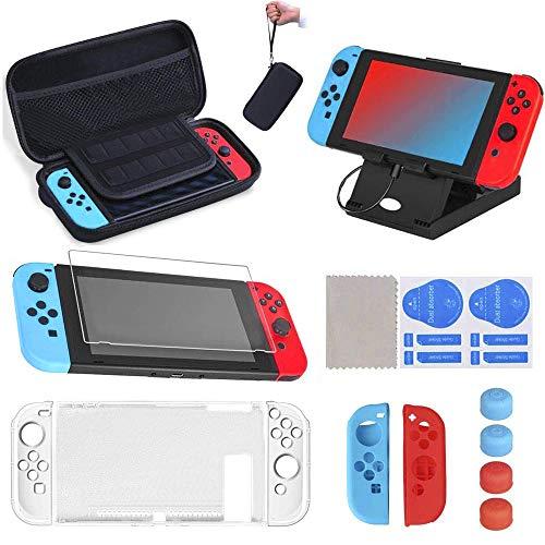 16 en 1 Kit de Accesorios para Nintendo Switch, Funda para N