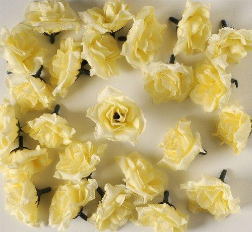 Artif-deco - Tetes de rose artificielle x 24 champagne d 5 cm pour boule de rose - choisissez votre coloris: champagne